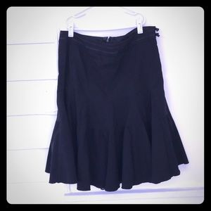 5/$20 Odille 8 Solid Black Pleated Fit Flare Skirt